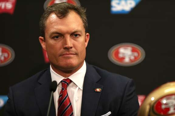 John Lynch during a news conference at Levi's Stadium on Thursday, Feb. 9, 2017 in Santa Clara, Calif. Lynch was introduced as the new general manager for the San Francisco 49ers.