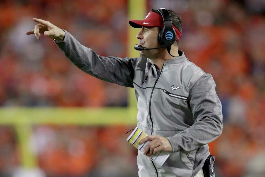 TAMPA, FL - JANUARY 09:  Offensive coordinator Steve Sarkisian of the Alabama Crimson Tide reacts during the second half of the 2017 College Football Playoff National Championship Game against the Clemson Tigers at Raymond James Stadium on January 9, 2017 in Tampa, Florida.  (Photo by Streeter Lecka/Getty Images) Photo: Streeter Lecka, Staff / 2017 Getty Images