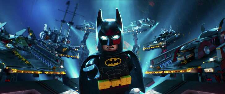 """Batman voiced by Will Arnett in a scene from the animated movie """"The LEGO Batman Movie"""" directed by Chris McKay. (Warner Bros. Pictures/TNS)"""