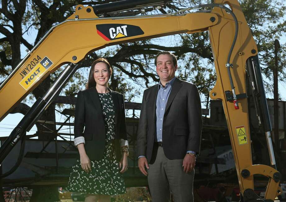 Corinna Holt Richter (left) and Peter John Holt will take over Holt Cat's operations in January. Richter will become president and continue in her role as chief administrative officer, while Holt will become CEO and continue as general manager. Photo: Edward A. Ornelas /San Antonio Express-News / © 2017 San Antonio Express-News