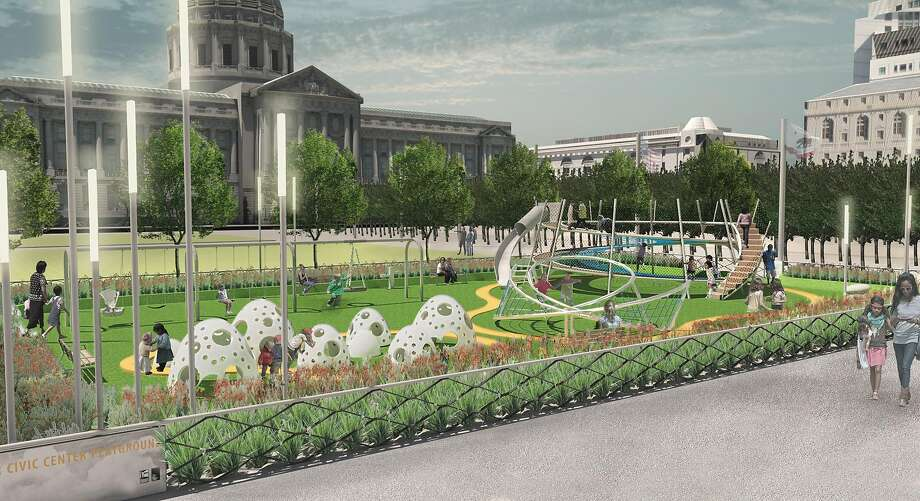 Pending planning ok bi rite to operate civic center plaza for Gifts for landscape architects