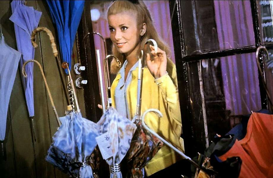 "Catherine Deneuve in Jacques Demy's ""Umbrellas of Cherbourg."" Photo: Contributed Photo"