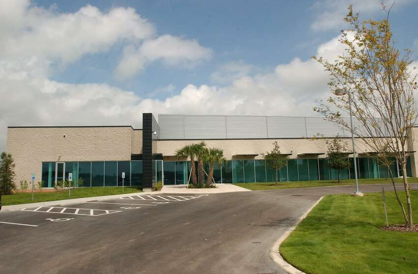 The outside of the Spurs' new practice facility located in San Antonio's Medical Center area is shown at its opening in 2002.