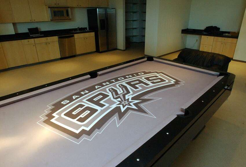 The players' lounge - featuring a pool table - inside the Spurs' new practice facility located in San Antonio's Medical Center area is shown at its opening in 2002.