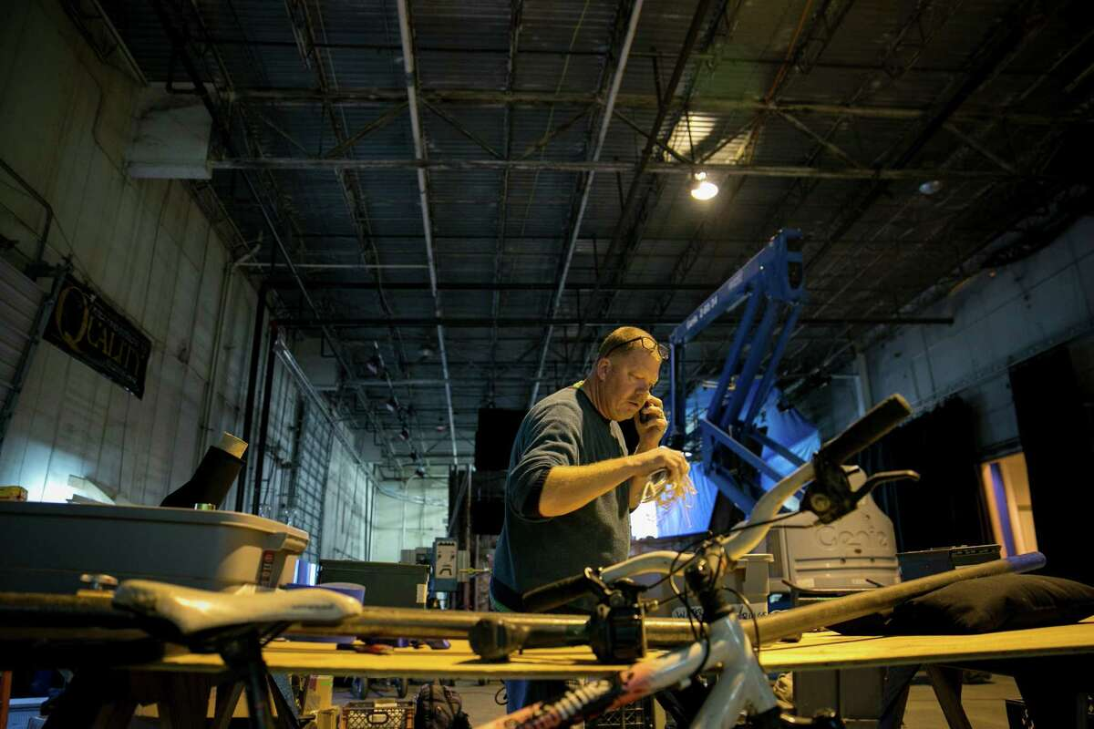 AUSTIN, TEXAS - January 28, 2017: Peter Stockton is working as Key Rigging Grip on Alita: Battle Angels, a James Cameron/Robert Rodriguez film in Austin, Texas. Ilana Panich-Linsman for the Houston Chronicle