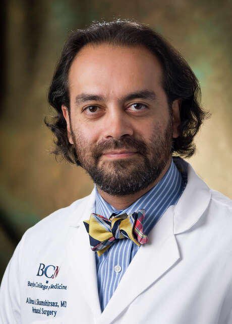 Dr. Alireza Shamshirsaz, an Iranian-born professor of obstetrics and gynecology at Baylor College        of Medicine, is part of theTexas Children's Fetal Center,one of only a handful of centers in the world capable of performing complicated open fetal surgeries. Photo: Courtesy Of Texas Children's Hospital