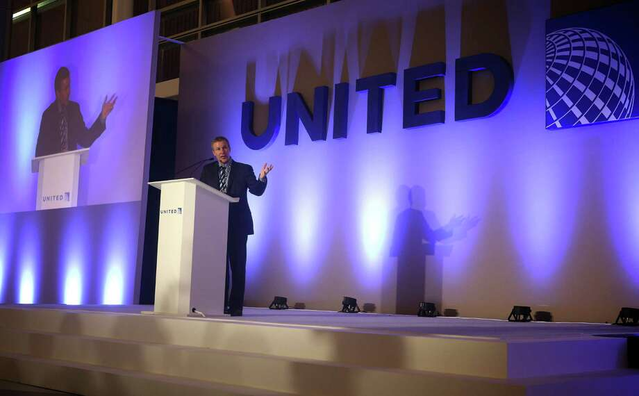United Airlines president Scott Kirby delivers remarks during a sneak peek of the almost-completed Terminal C North at George Bush Intercontinental Airport, Thursday evening, Feb. 9, 2017, in Houston. ( Mark Mulligan / Houston Chronicle ) Photo: Mark Mulligan, Staff / © 2017 Houston Chronicle