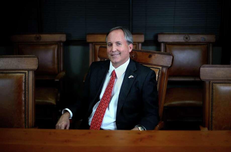 Texas Attorney General Ken Paxton poses for a portrait Wednesday, Sept. 21, 2016, in Austin.  ( Jon Shapley / Houston Chronicle ) Photo: Jon Shapley, Staff / © 2015  Houston Chronicle