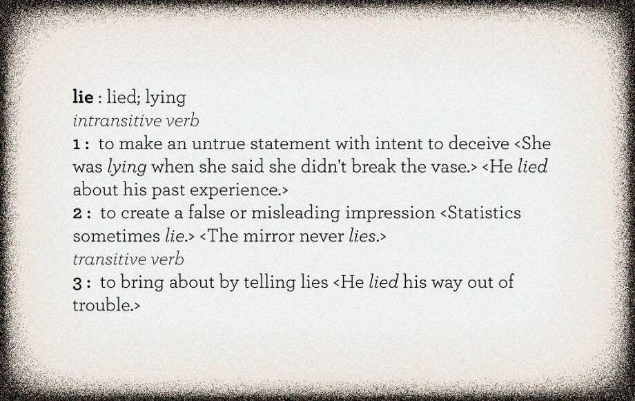 """Definition of """"lie"""" from Merriam-Webster.com"""
