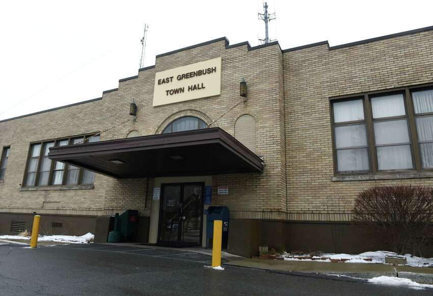 Exterior of East Greenbush Town Hall on Tuesday, Feb. 7, 2017, in East Greenbush, N.Y. The town has started a medical equipment loan program. They have physical aids, such as walkers and wheelchairs. (Will Waldron/Times Union)