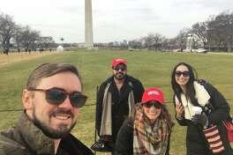 Trump inauguration: Travis Newkumet, Percy Engineer, Katlyn Knowlton and Amanda LaBrie