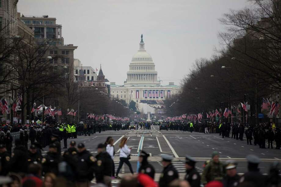 View of the United States Capitol from the corner of  Pennsylvania Avenue NW and 13th St NW during the inauguration of President Donald J. Trump, Friday, Jan. 20, 2017, in Washington D.C. Photo: Marie D. De Jesus, Houston Chronicle / © 2017 Houston Chronicle