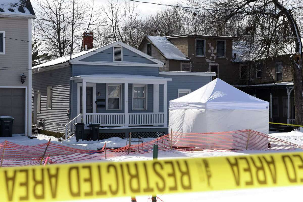 Exterior of 16 Cherry St. where police conducted an early morning raid on Friday, Feb. 10, 2017, in Saratoga Springs, N.Y. Fentanyl, a synthetic opioid painkiller that is 50 times as powerful as heroin, was found on surfaces inside the home, State Police said. (Will Waldron/Times Union)