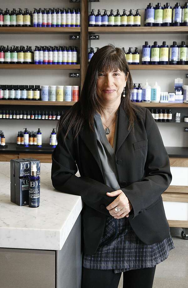 Susan Griffin-Black is co-founder of EO Products in Marin. She grew her essential organic oil soaps into a $28 million personal-care line — the first such U.S. company to be non-GMO certified. Photo: Liz Hafalia, The Chronicle