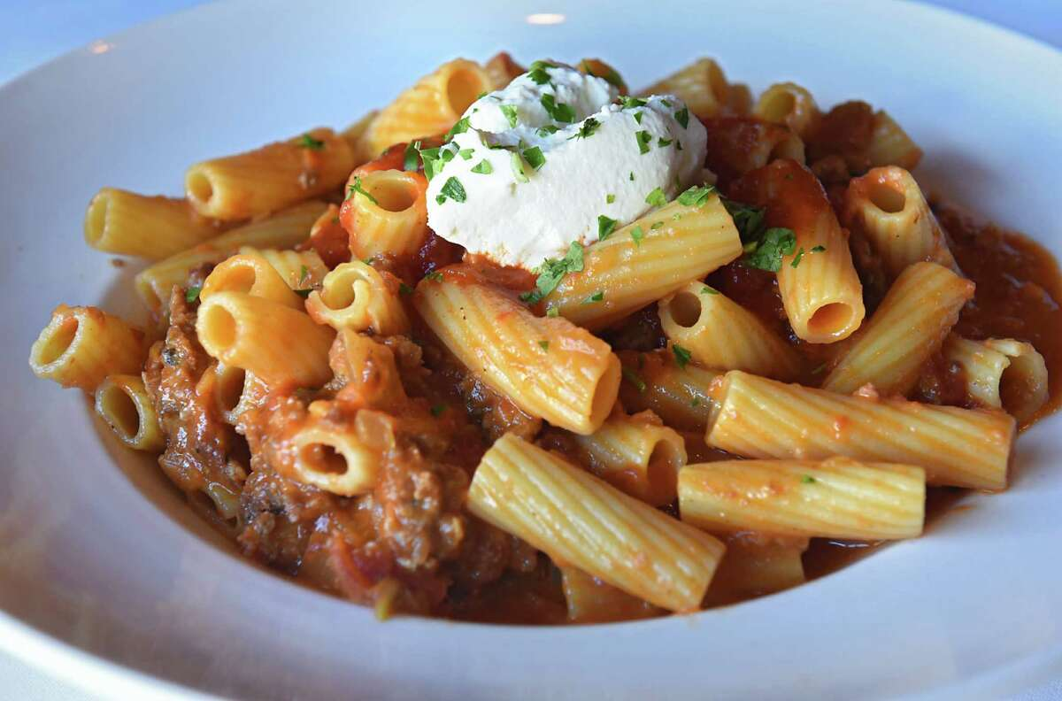 Rigatoni bolognese at Cornell's restaurant at 39 N Jay St. on Thursday Feb. 2, 2017 in Schenectady, N.Y. (Lori Van Buren / Times Union)