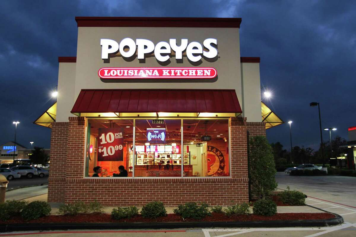 File photo of a Popeyes. A San Antonio woman who ate at a local Popeyes Louisiana Kitchen is suing the fast-food chain after she claims she unknowingly ingested flesh-eating New World screwworms after eatings its rice and beans.