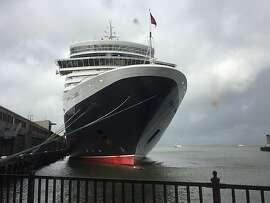 The Queen Elizabeth is seen docked on Friday, Feb. 3, 2017 in San Francisco, Calif.