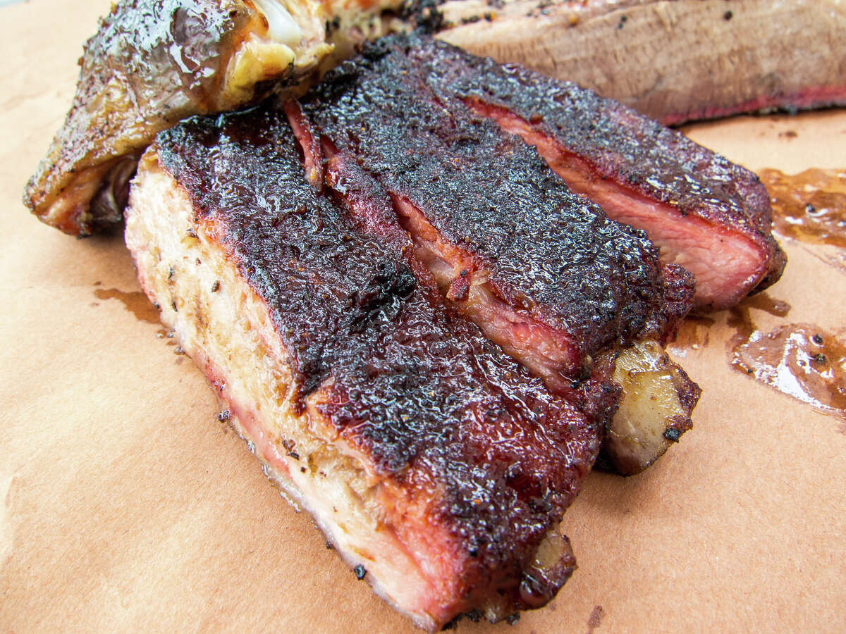 Smoked meats from Wesley Jurena's Pappa Charlies Barbeque trailer.