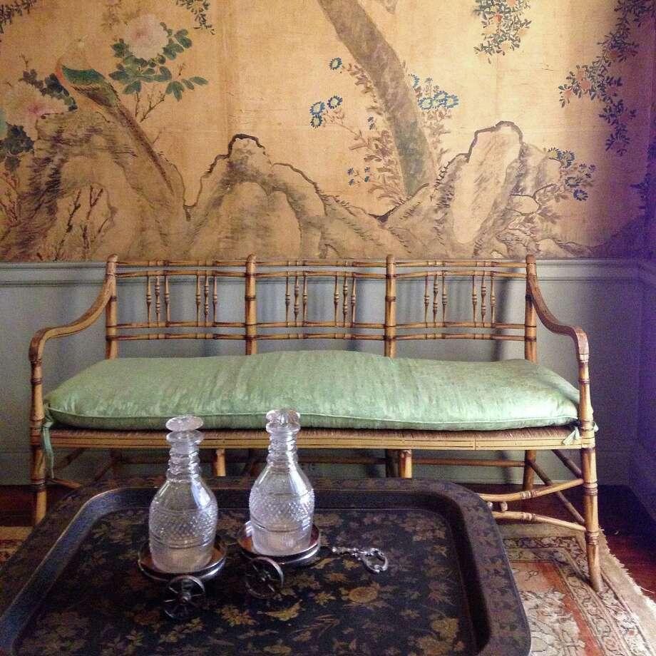 Garden themes abound within the interior decor of Longue View. Photo: Molly Glentzer