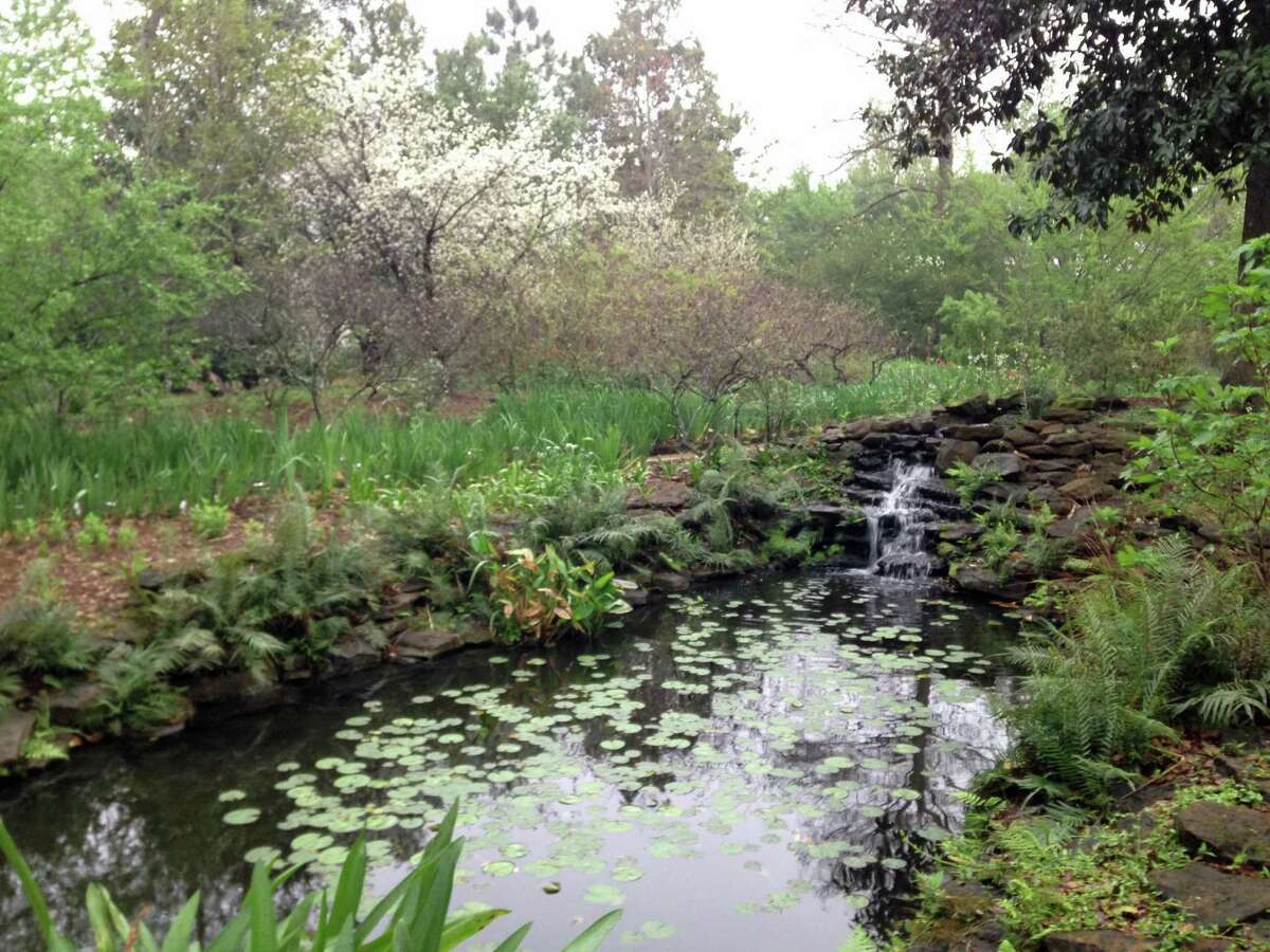 Water features are plentiful in the gardens of Longue Vue. This is the goldfish pond.