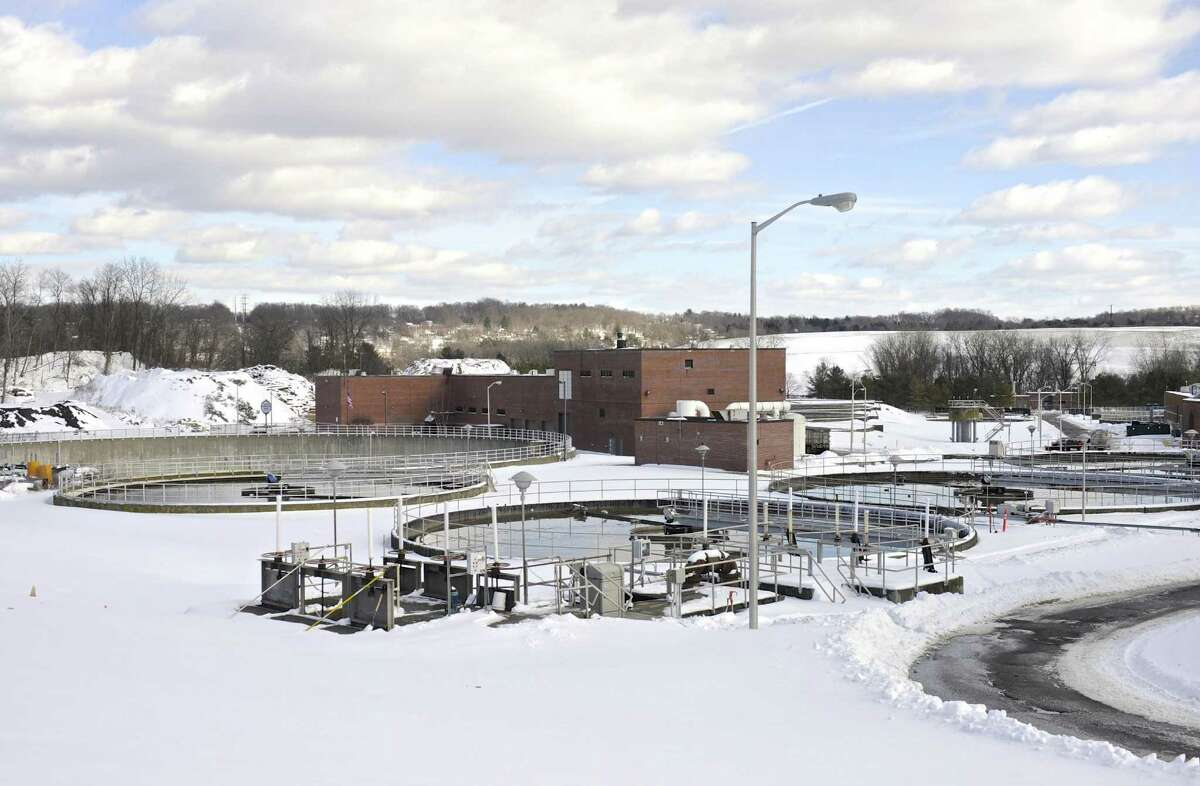 Primary Settlement tanks at the City of Danbury wastewater treatment plant, Friday, February 10, 2017, in Danbury, Conn.