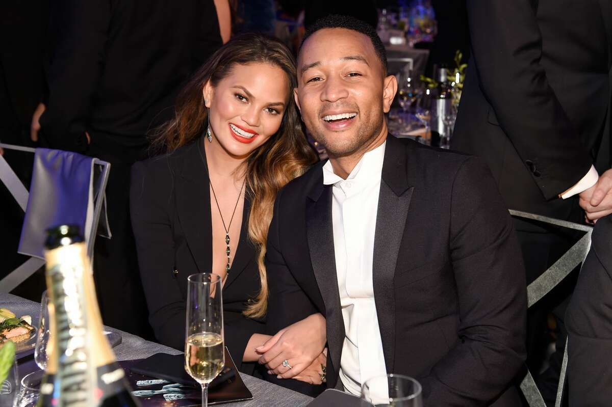 Chrissy Teigen (L) and artist John Legend during The 23rd Annual Screen Actors Guild Awards at The Shrine Auditorium on January 29, 2017. Keep clicking for love and relationship advice for the stars of Hollywood.