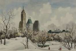 """""""Adolf Dehn: Midcentury Manhattan"""" will be on view through Friday, April 7, in the Fairfield University Art Museum. Above is his """"Central Park."""" A free Family Day is slated for Saturday, Feb. 18; all kids' activities will relate to the exhibition."""