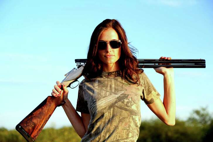 An avid hunter, model and taxidermist Kristen Ottea is plenty comfortable posing with firearms. Nevertheless, she makes sure she's always pictured with her finger off the trigger and the barrel pointed in a safe direction.