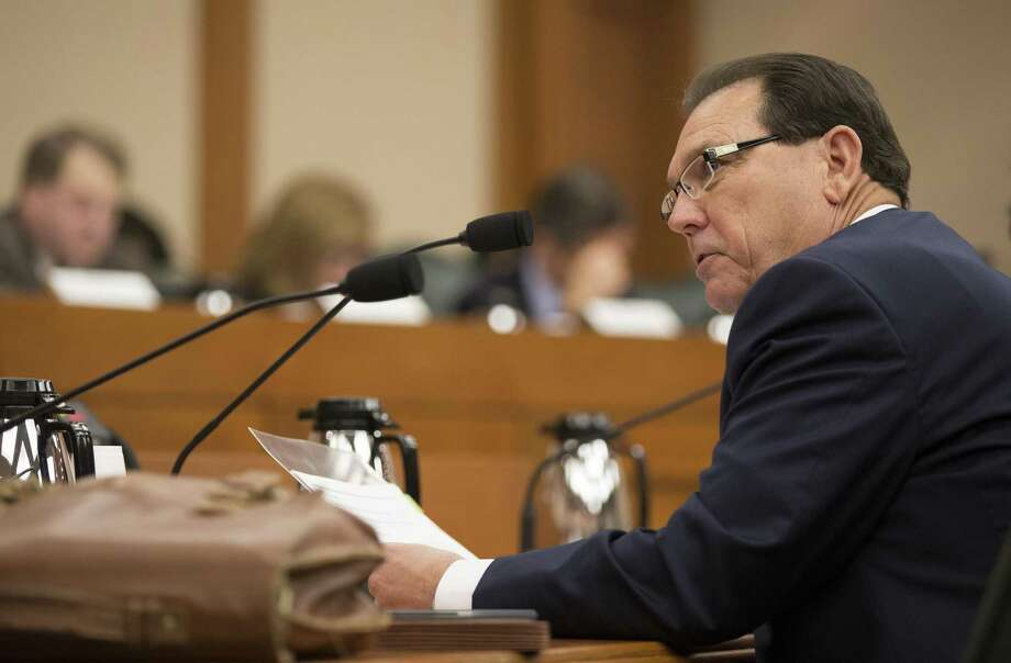 Hank Whitman, commissioner of the Department of Family and Protective Services, speaks at a meeting of the Senate Finance Committee earlier this year in Austin. Photo: Jay Janner /Associated Press / Austin American-Statesman