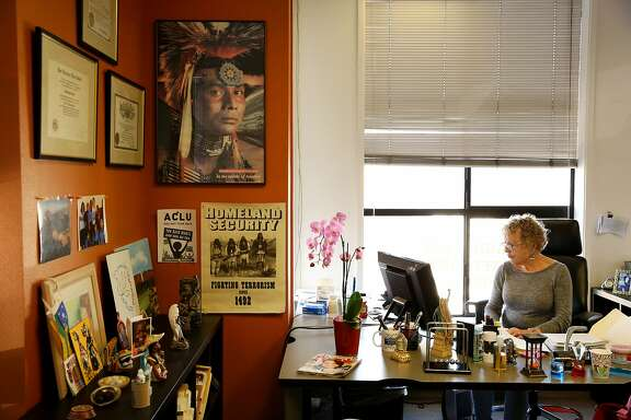 """Hedi Framm-Anton, an immigration attorney, at her offices in the Mission District on Friday, Feb. 10, 2017, in San Francisco, Calif. Her offices have experienced a surge of calls, following the presidential election of Donald Trump. Apart from political asylum, Framm-Anton practices deportation defense, U-visa applications for victims of crime and consular processing. """"I have never been so patriotic in my life,"""" Framm-Anton said. """"I have never loved my country so much and I have never read the constitution as much as I have now. We will suffer for some time, but we will prevail. We are a nation of immigrants."""" Framm-Anton's husband is an immigrant from Peru. He was granted political asylum in 1992."""