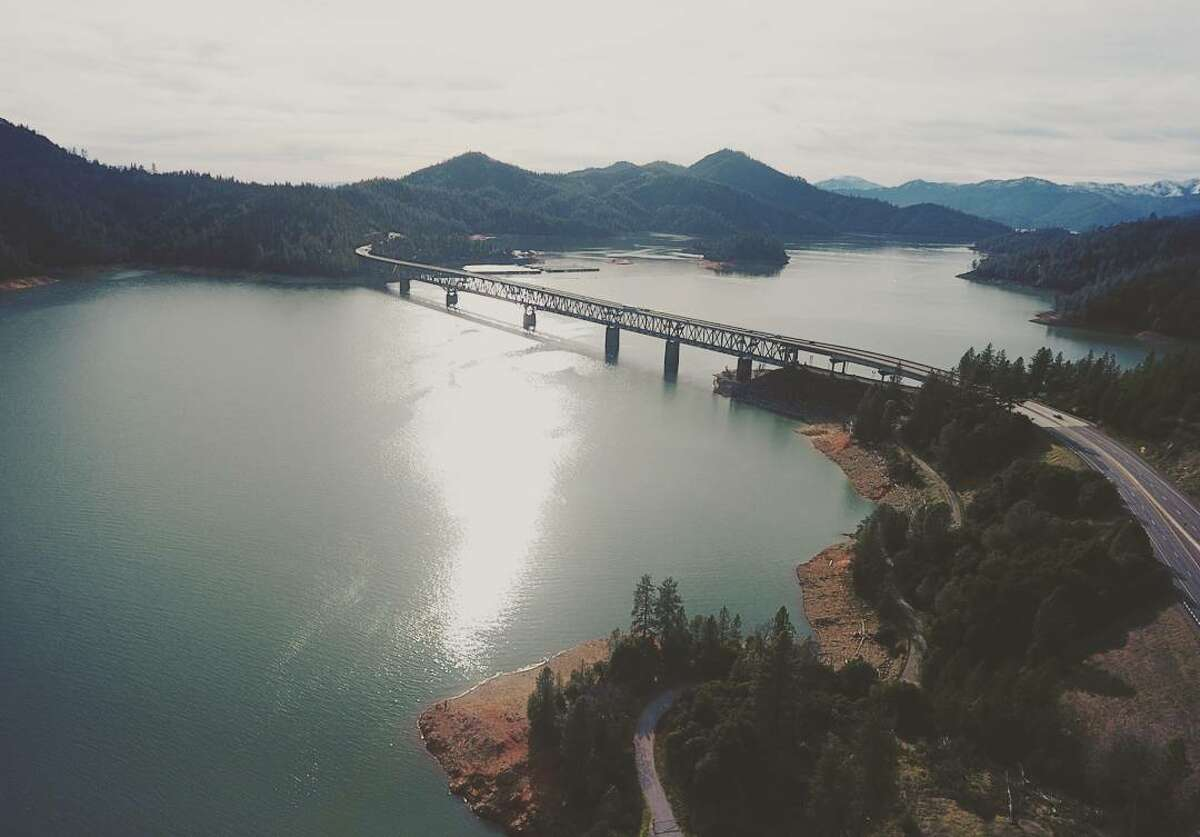 Lake Shasta pictured on February 9th, 2017.