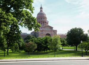 The Texas State Capitol building stands in Austin. (David Williams/Bloomberg)