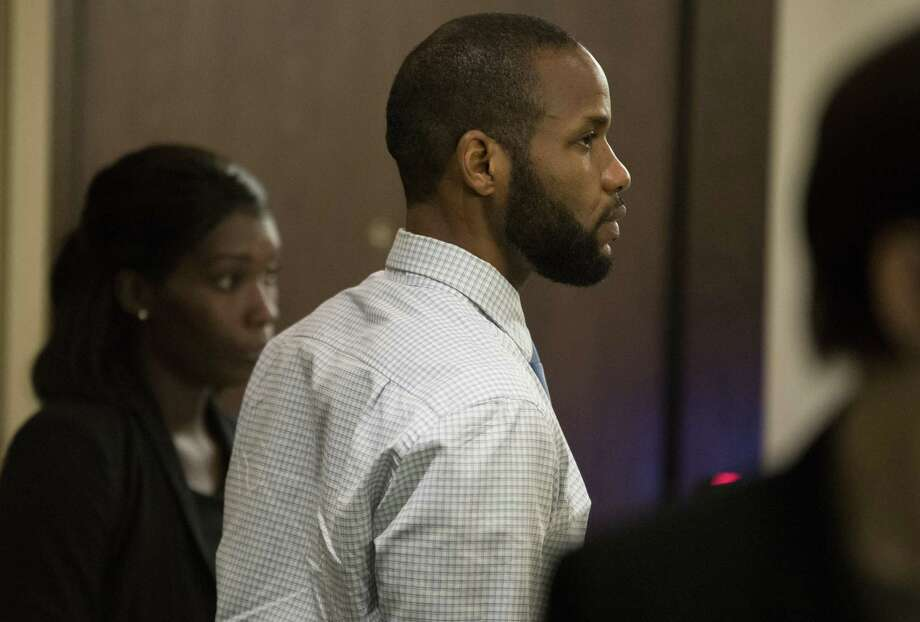 Marquita Johnson, left, and Qwalion Busby stand for the jury during their trial on Wednesday, Feb. 8, 2017, in the 290th State District Court in San Antonio. Johnson and Busby are charged with injury to a child, accused of withholding medical care from their son, who later died as a result of illness. (Darren Abate/For the San Antonio Express-News) Photo: Darren Abate, FRE / San Antonio Express-News / San Antonio Express-News