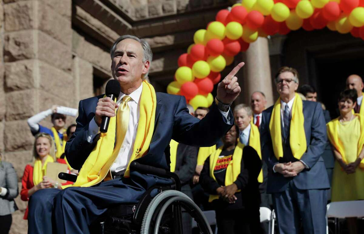 """""""This is a civil rights issue,"""" Gov. Greg Abbott said at a January rally in Austin for school choice. """"When it comes to education, one size does not fit all."""""""