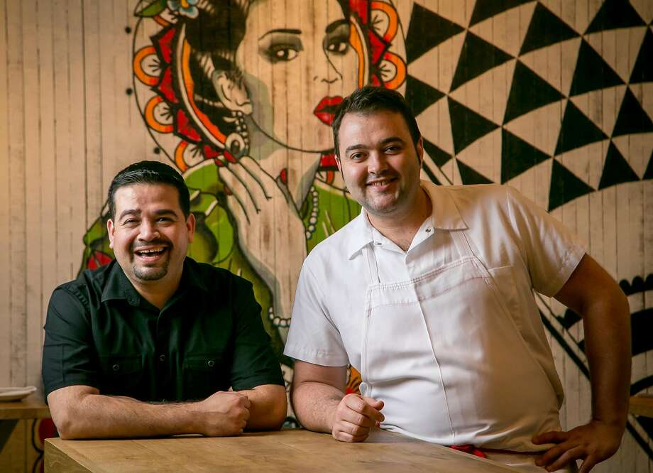 Luis Flores (left) and chef Alejandro Morgan of Flores in San Francisco. Photo: John Storey, Special To The Chronicle
