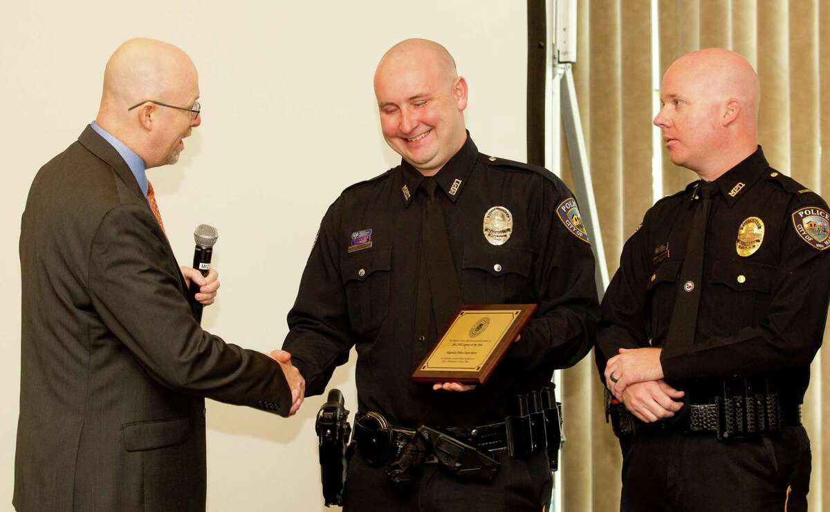 The Magnolia Police Department received the DWI agency of the year award from Montgomery County First Assistant District Attorney Mike Holley during the Montgomery County District Attorney's DWI awards at the Lone Star Convention & Expo Center Wednesday, Feb. 8, 2017, in Conroe.