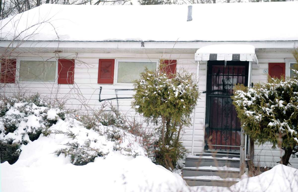 A Schenectady Jewish man apparently had his home on Chiswell Road vandalized with at least three swastikas between Thursday night and Friday morning. (Robert Downen/Times Union)