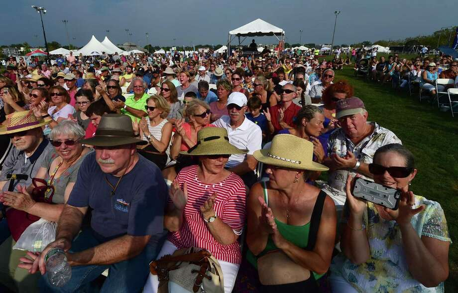 The crowd cheers the performance of Sawyer Fredericks during the 39th annual Norwalk Oyster Festival at Veterans Memorial Park Saturday, September 10, 2016, in Norwalk, Conn. Photo: Erik Trautmann / Hearst Connecticut Media / Norwalk Hour