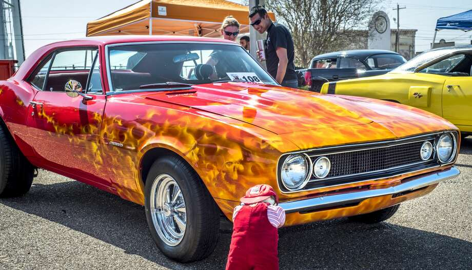 Custom car enthusiasts admired cars displayed by local and out of town car clubs on Saturday, February 11, 2017 during the WBCA Pipes and Stripes Car Show. Photo: Danny Zaragoza/Laredo Morning Times