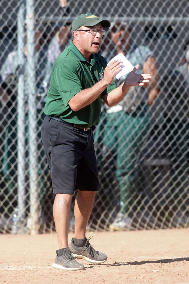 Midland College softball head coach Tommy Ramos looks on during the game against Lamar College on Saturday, Feb. 11, 2017, at Chaparral Center. James Durbin/Reporter-Telegram Photo: James Durbin