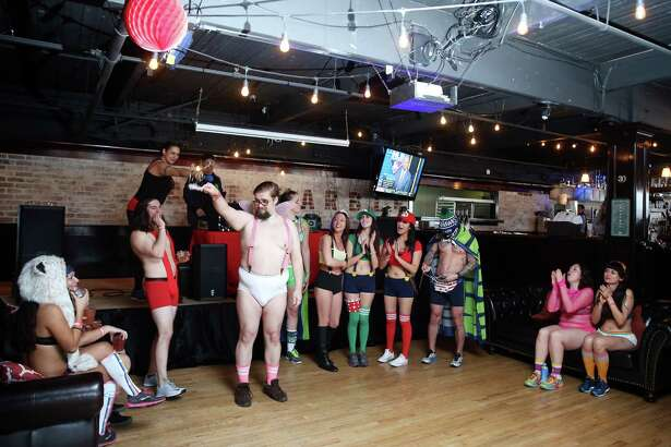 Scenes from the Cupid's Undie Run, an annual fundraiser for The ChildrenÕs Tumor Foundation and neurofibromatosis research, at Art Marble 21, Saturday, Feb. 11, 2017.