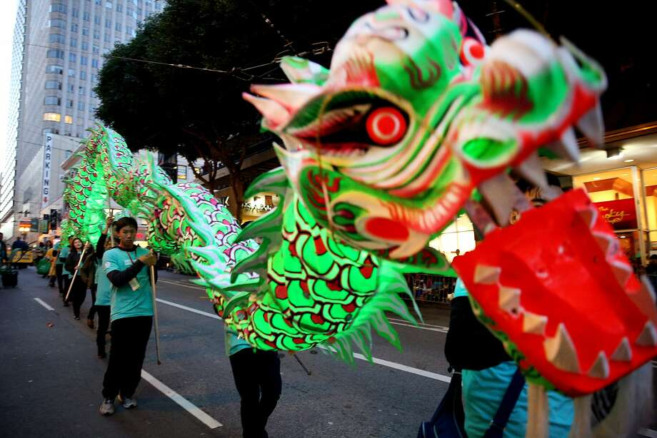 Dragon dancers during the Chinese New Year Parade on Saturday, Feb. 11, 2017, in San Francisco, Calif. Photo: Santiago Mejia, The Chronicle