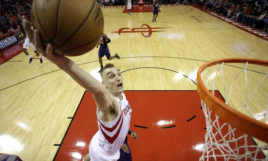 Houston Rockets' Sam Dekker goes up to dunk the ball against the Phoenix Suns during the second half of an NBA basketball game, Saturday, Feb. 11, 2017, in Houston. (AP Photo/David J. Phillip) Photo: David J. Phillip/Associated Press
