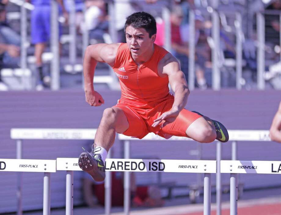 United's Michael Castillo won the 110-meter hurdles to help the Longhorns capture the team title. Photo: Clara Sandoval /Laredo Morning Times