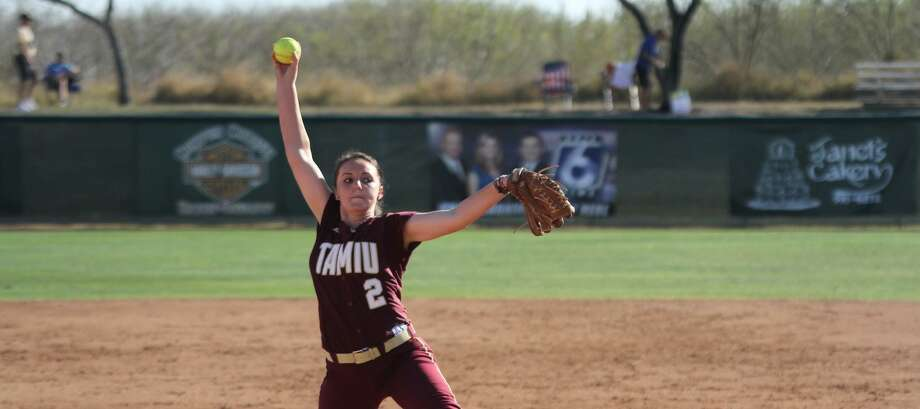 Delainy Thompson pitched a complete-game shutout Saturday allowing just five hits with three strikeouts in TAMIU's 5-0 win over Adams State. Photo: TAMIU Athletics