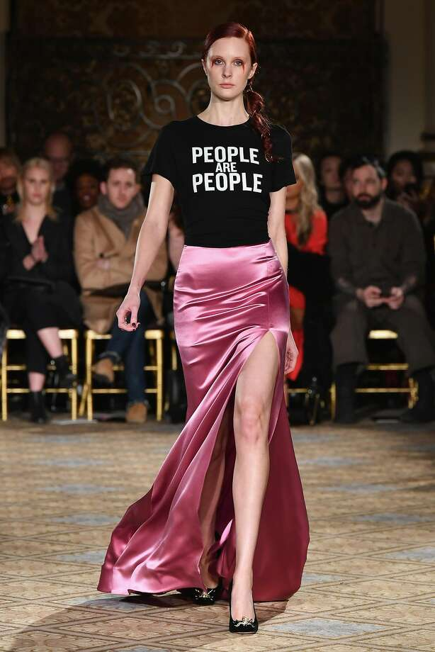 NEW YORK, NY - FEBRUARY 11:  A model walks the runway for the Christian Siriano collection during, New York Fashion Week: The Shows at The Plaza Hotel on February 11, 2017 in New York City.  (Photo by Slaven Vlasic/Getty Images for New York Fashion Week: The Shows ) Photo: Slaven Vlasic, Getty Images For New York Fashion Week: The Shows