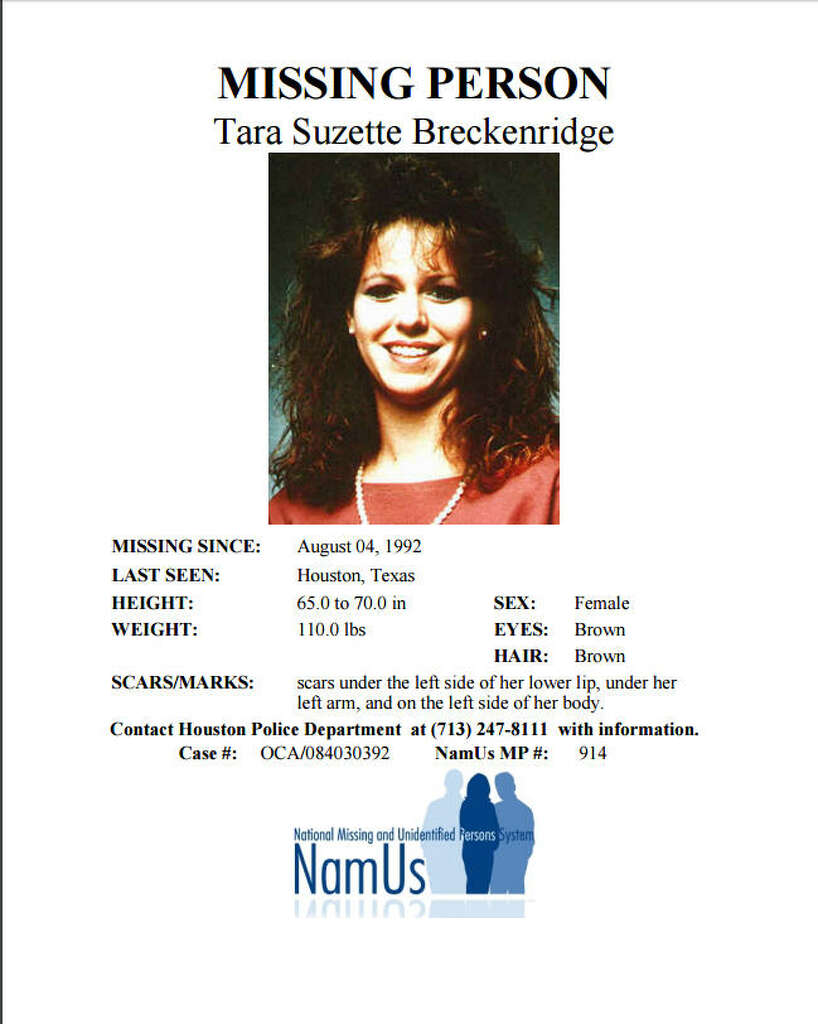 Tara Breckenridge Photo: NAMUS  Missing Person Flyer
