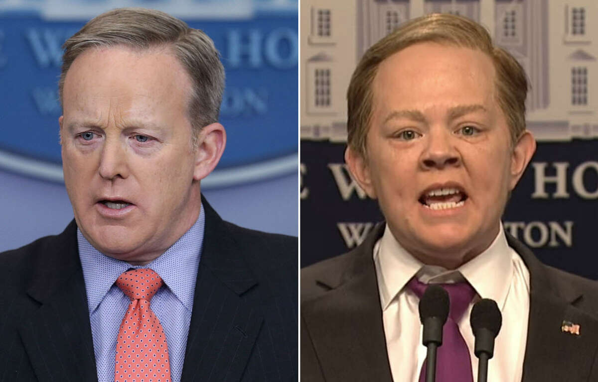 Left: White House Press Secretary Sean Spicer Right: Actress Melissa McCarthy