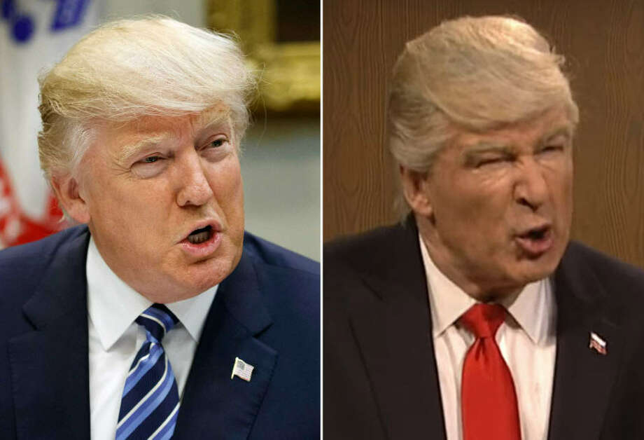 Top 'Saturday Night Live' makeups of real-life politiciansLeft: President Donald TrumpRight: Actor Alec Baldwin Photo: Getty Images / SNL Screenshot