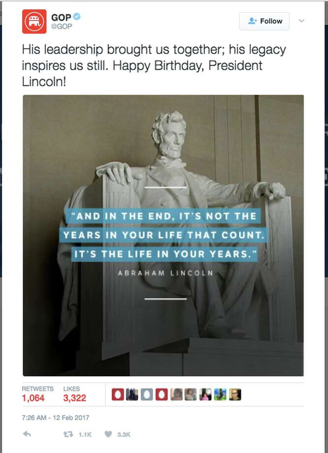 Gop Mistakenly Tweets Fake Abraham Lincoln Quote Internet Writes